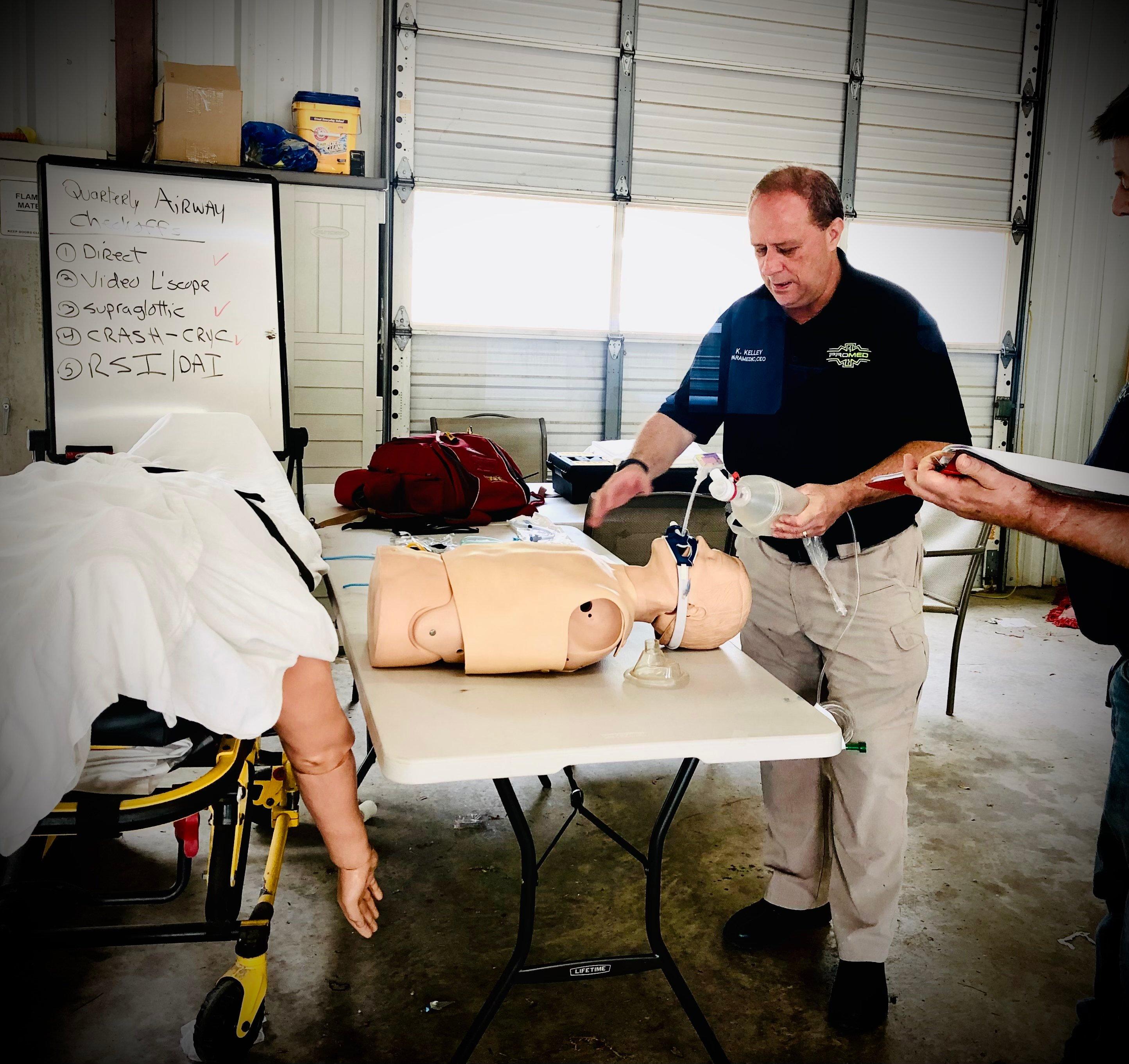 Ken Kelley training EMTs