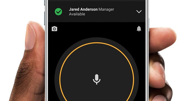 Zello talk screen on Android smartphone