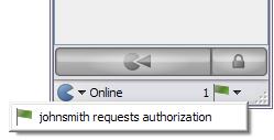Authorization request notice
